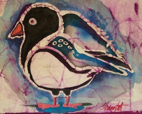 """""""Bird"""", batik"""