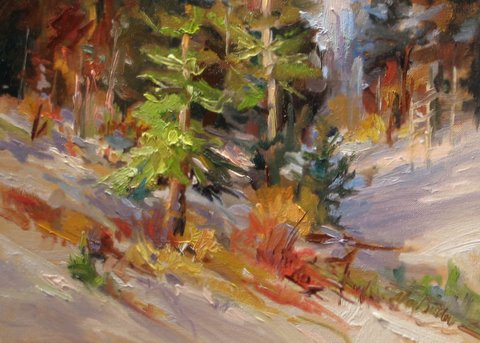 Frist Fall Snow Oil 12x16 $320