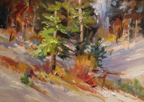 Frist Fall Snow Oil 12x16 $320