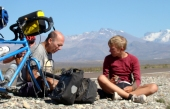bike touring argentina fix flat tire