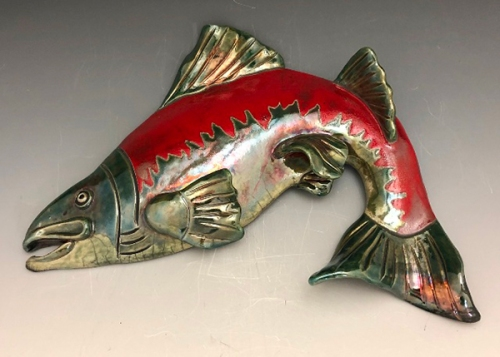 Raku Fish by Terri Axness